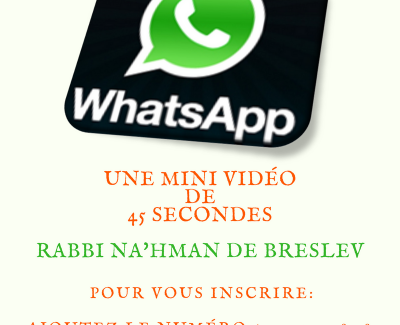 45 Secondes de « Sefer Hamidot » – INSCRIPTION WHATSAPP